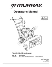 Murray Snow Blower Manuals