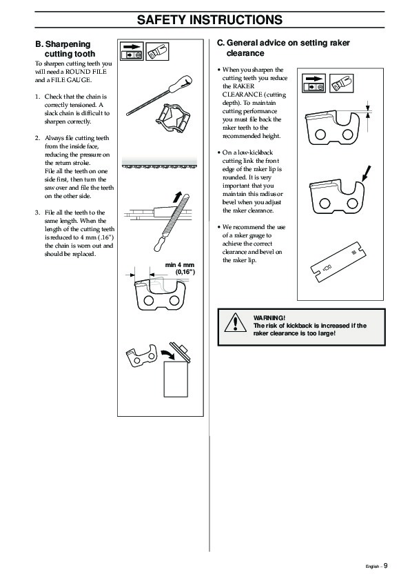 Husqvarna 326P4 X-Series Chainsaw Owners Manual, 1993,1994