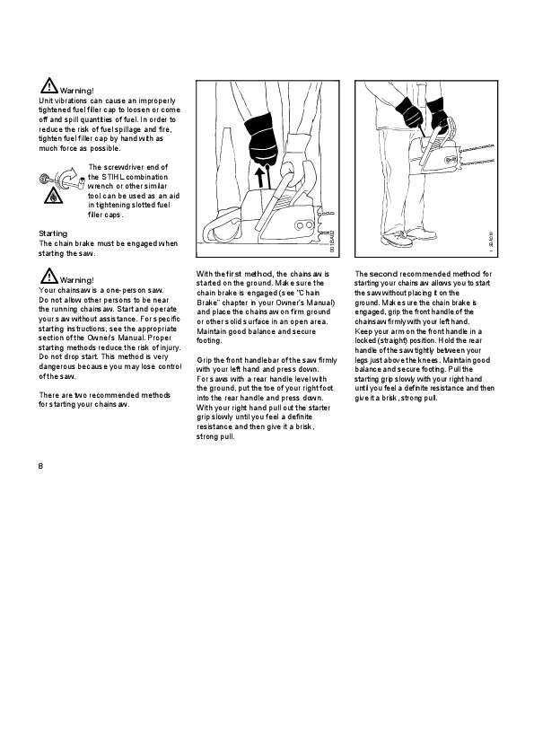 STIHL 044 Chainsaw Owners Manual