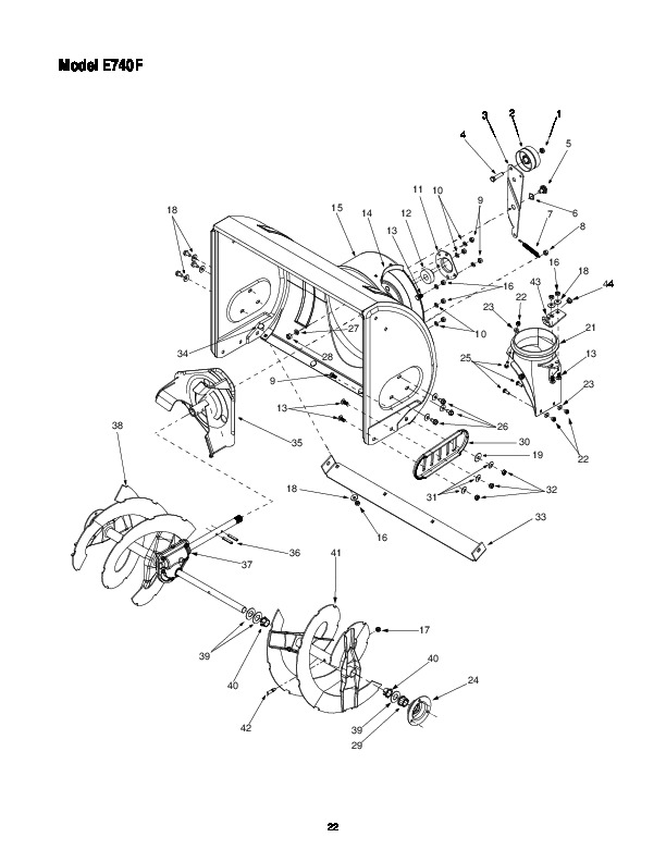 MTD Yard Machines E740F Snow Blower Owners Owners Manual