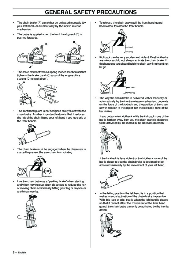 Husqvarna 336 Chainsaw Owners Manual, 2001,2002,2003,2004