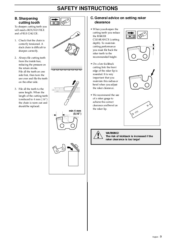Husqvarna 325P4 X-Series Chainsaw Owners Manual, 1995,1996