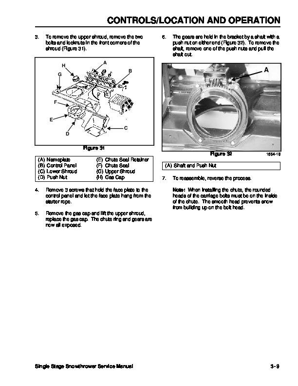 Toro CCR 2450 GTS 38515 Snow Blower Service Service Manual