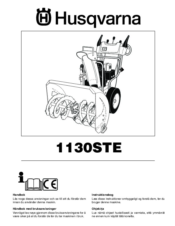 Husqvarna 1130STE Snow Blower Owners Manual, 2004,2005