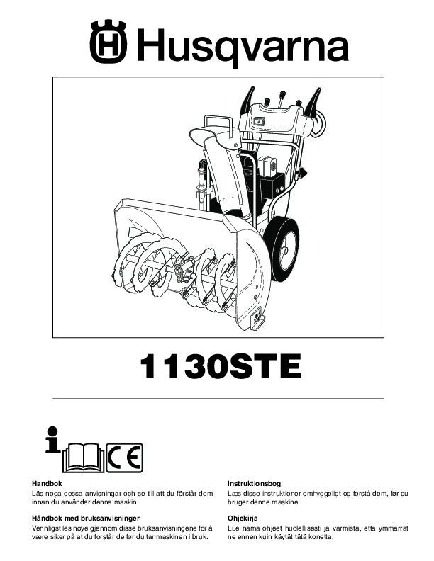 Husqvarna 1130STE Snow Blower Owners Manual, 2004,2005