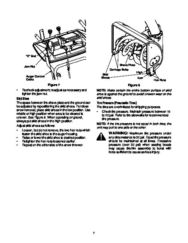 MTD Yard Man 31AH553G401 Snow Blower Owners Manual