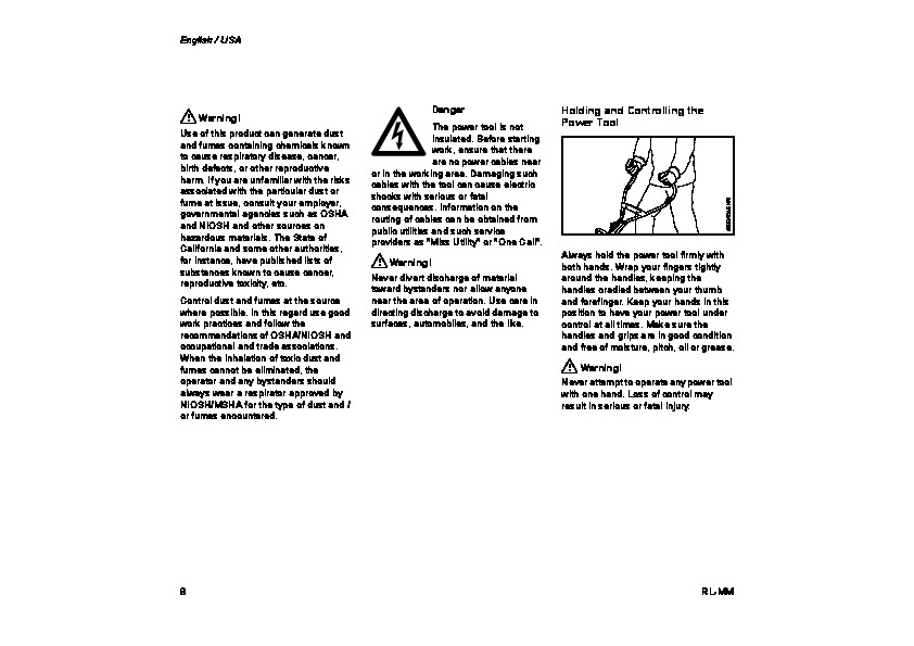 STIHL RL MM Aerator Attachments Cultivator Owners Manual