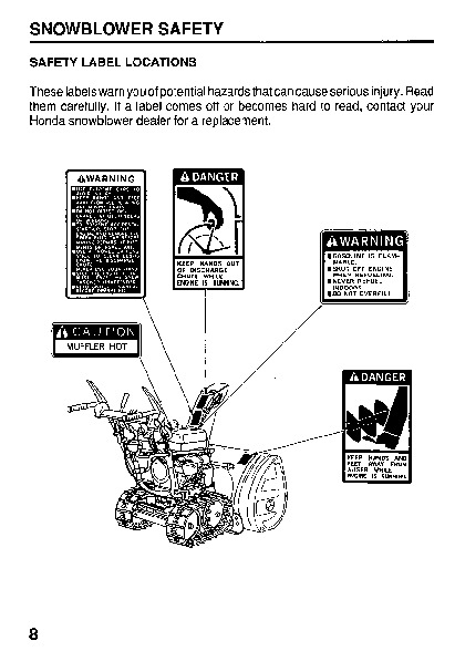 Honda HS624 HS724 HS828 HS928 HS1132 Snow Blower Owners Manual