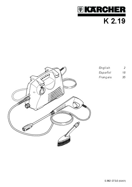 Kärcher K 2.19 Car Care Kit Electric Power High Pressure