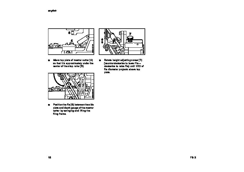 STIHL FG3 Chainsaw Filing Unit Owners Manual