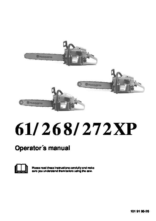 2001-2010 Husqvarna 61 268 272XP Chainsaw Owners Manual