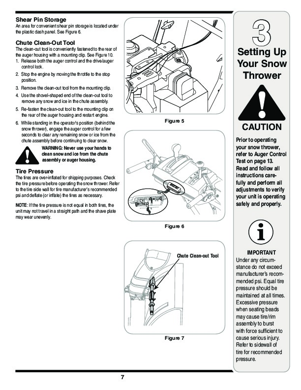 MTD White Outdoor L Style Snow Blower Owners Manual
