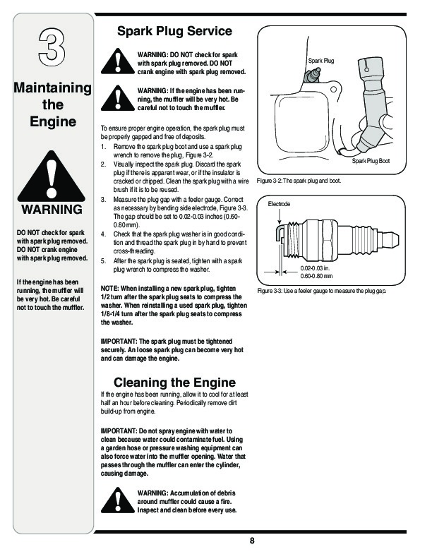 MTD 179cc 208cc Horizontal Shaft OHV Snow Blower Owners Manual