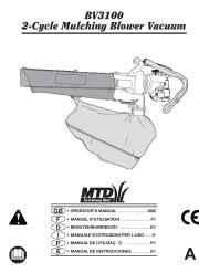MTD BV3100 2 Cycle Mulching Blower Vacuum Owners Manual