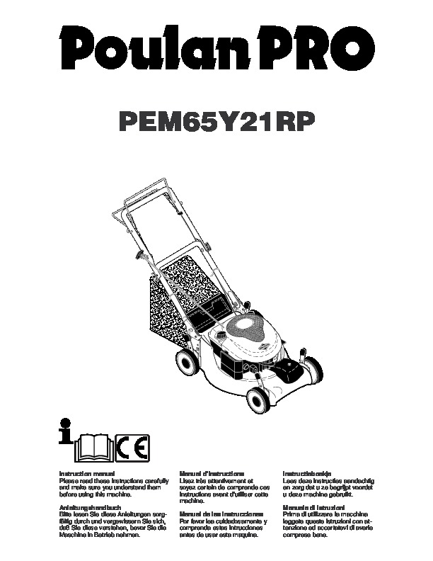 Poulan Pro PEM65Y21RP Lawn Mower Owners Manual, 2005
