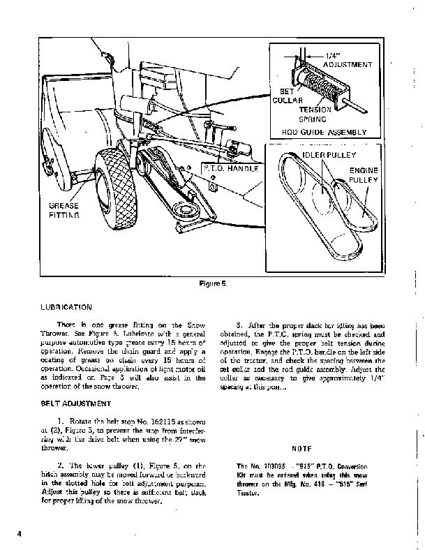 Simplicity 561 27-Inch Rotary Snow Blower Owners Manual