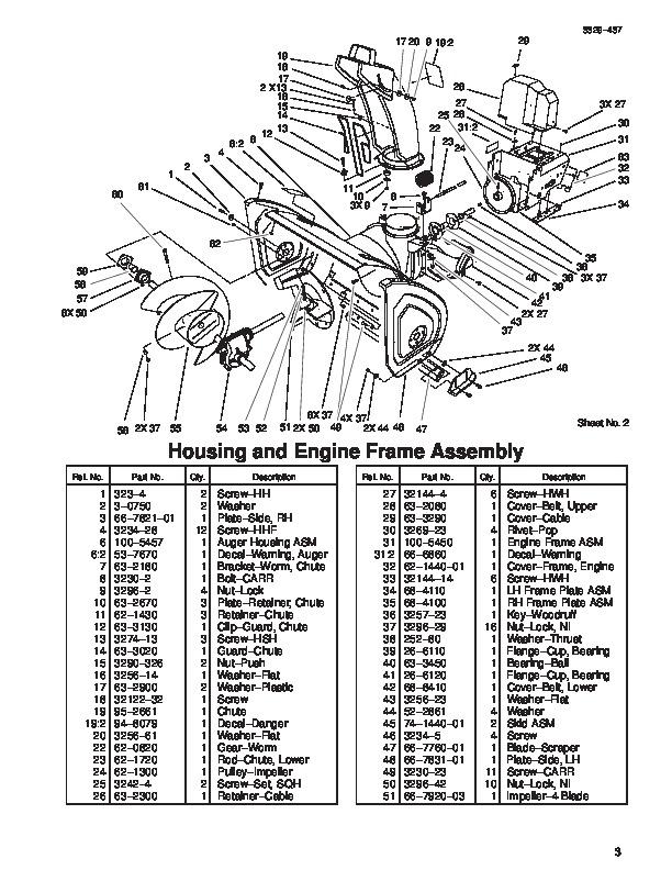 Toro Snow Blower Parts. Toro. Tractor Engine And Wiring
