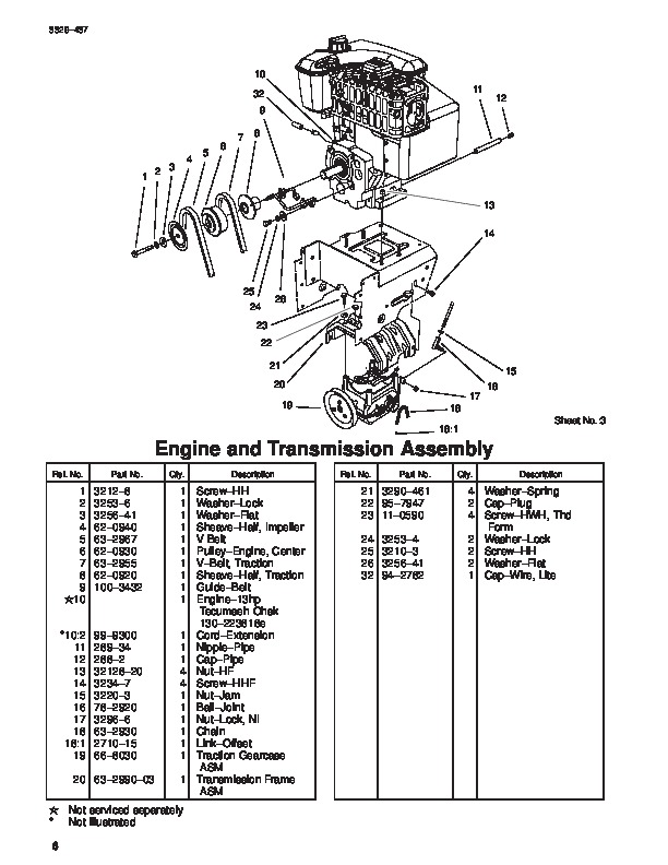 Toro 1332 Power Shift 38592 Snow Blower Parts Manual, 2004
