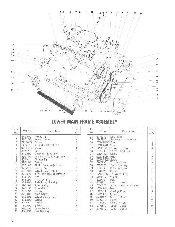 Toro 38000 S-120 Snowblower Manual, 1980-1981