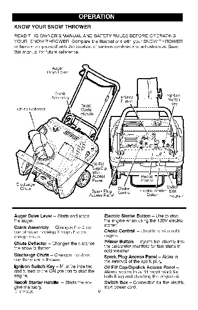Craftsman 536.881500 22-Inch Snow Blower Owners Manual