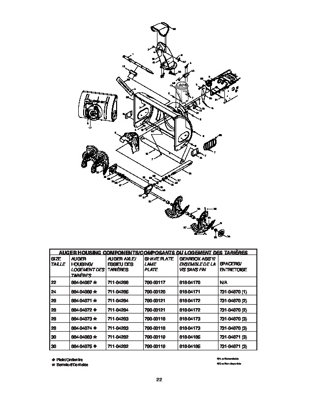 MTD Yard Man 600 Series Snow Blower Owners Owners Manual