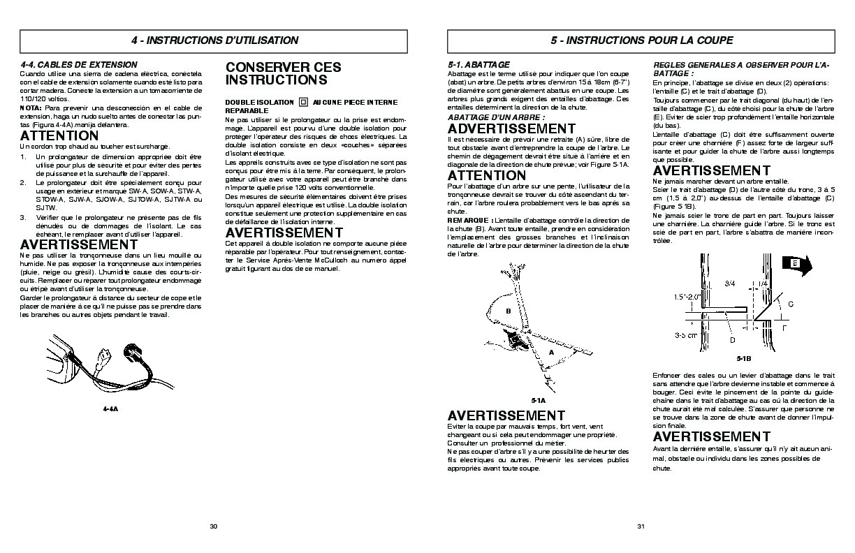 McCulloch MCC1514 Electric Chainsaw Owners Owners Manual