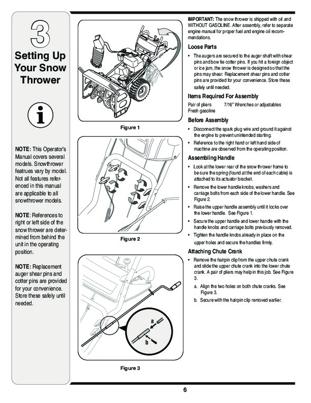 MTD Yard Man 769-03342 Snow Blower Owners Manual