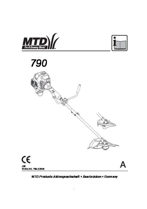 MTD 790 Trimmer Lawn Mower Owners Manual