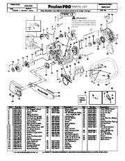 Poulan Pro SM4218AV Chainsaw Parts List, 2008