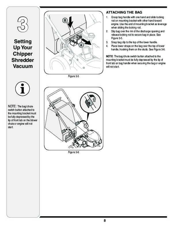 MTD 020 Series Chipper Shredder Vacuum Owners Manual