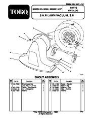 Toro 62924 5 hp Lawn Vacuum Blower Manual, 1998-2000