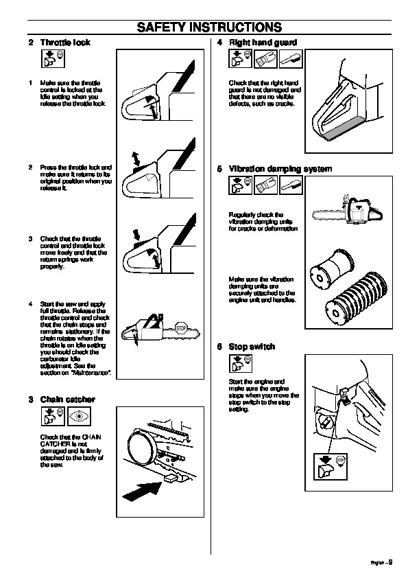 Husqvarna 355 Chainsaw Owners Manual, 1995,1996,1997,1998