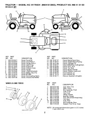 Weed Eater 96041012002 Lawn Tractor Parts List, 2010