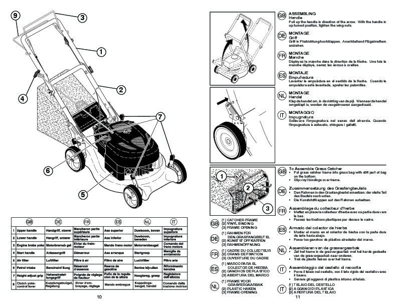 McCulloch M53 675 CMD Lawn Mower Owners Manual, 2008