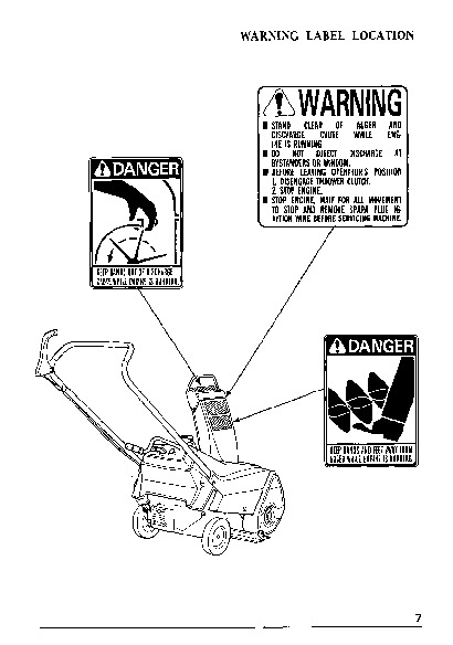 Honda HS35 Snow Blower Owners Manual