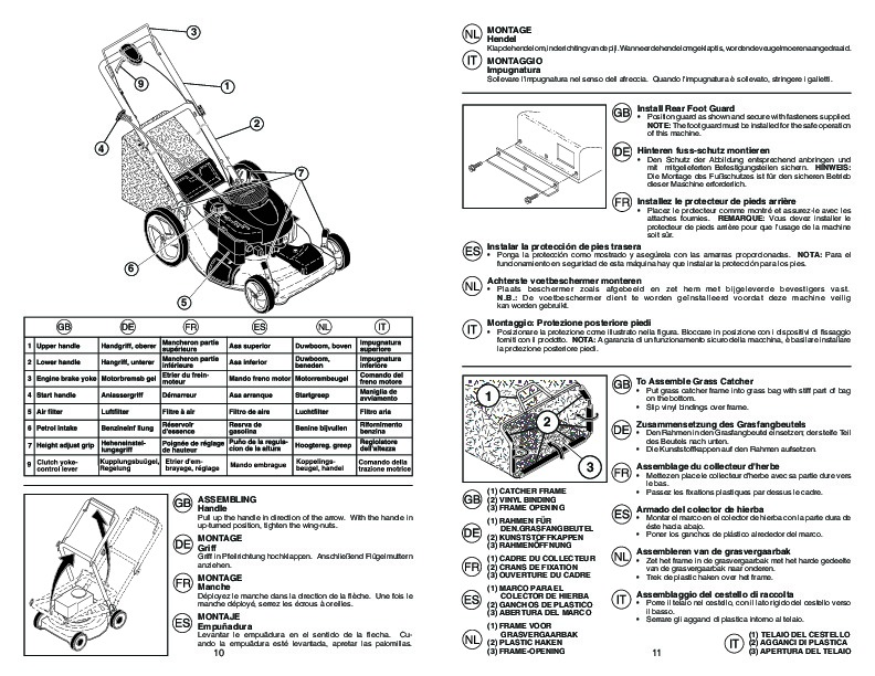 McCulloch 1 MM56 675 DWA Lawn Mower Owners Manual, 2009