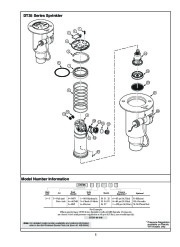 Toro DT34 Series Sprinkler Model Number Information