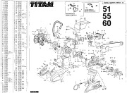 McCulloch Titan 51 55 60 Chainsaw Service Parts List, 1993