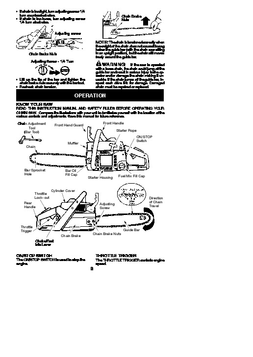 Poulan Pro PP4620AV Chainsaw Owners Manual, 2010
