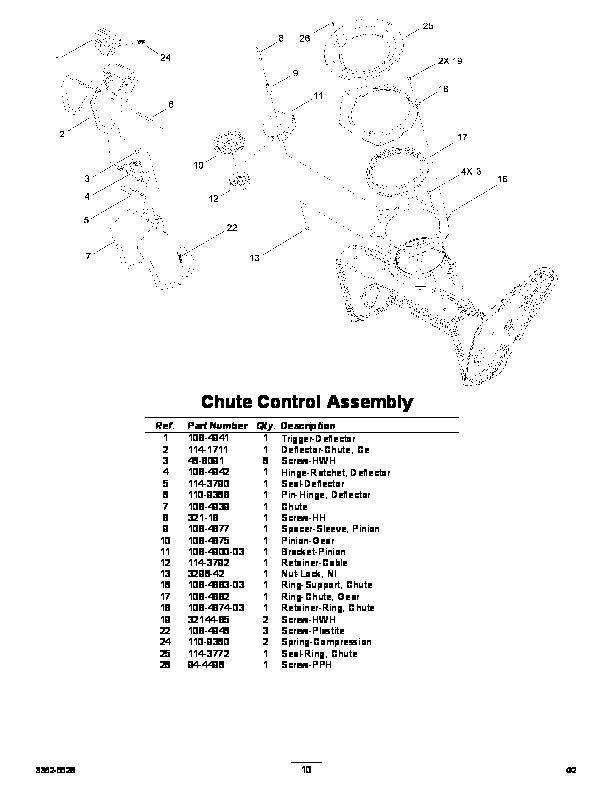 Toro Power Clear 38588 Snow Blower Parts Manual, 2011