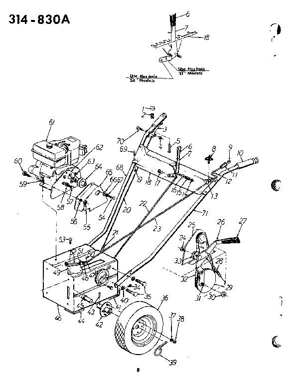 MTD 314-830A 26-Inch Snow Blower Owners Manual