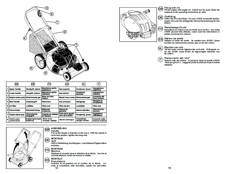 McCulloch MM56 875DW Lawn Mower Owners Manual, 2009