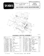 Toro 38005 1200 Power Curve Snowblower Manual, 1990-1991
