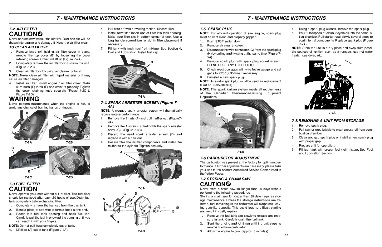 McCulloch Eager Beaver EBC1840DK Chainsaw Owners Manual
