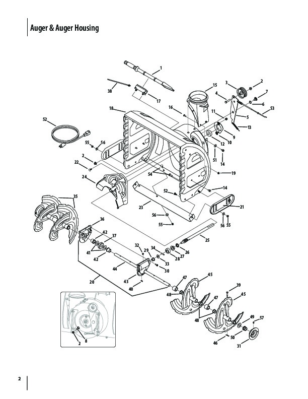 cub cadet snow blower attachment parts