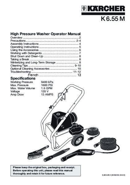 Kärcher K 6.55 M Electric Power High Pressure Washer
