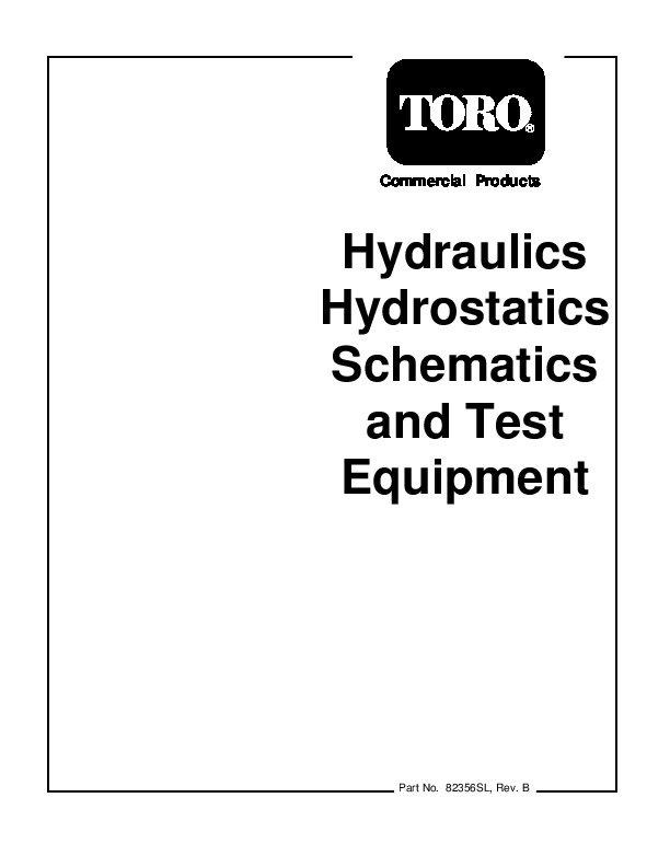 Toro Commercial Products Hydraulics Hydrostatics