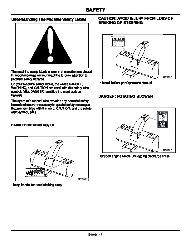 John Deere 141984 I9 42-Inch Snow Blower Owners Manual
