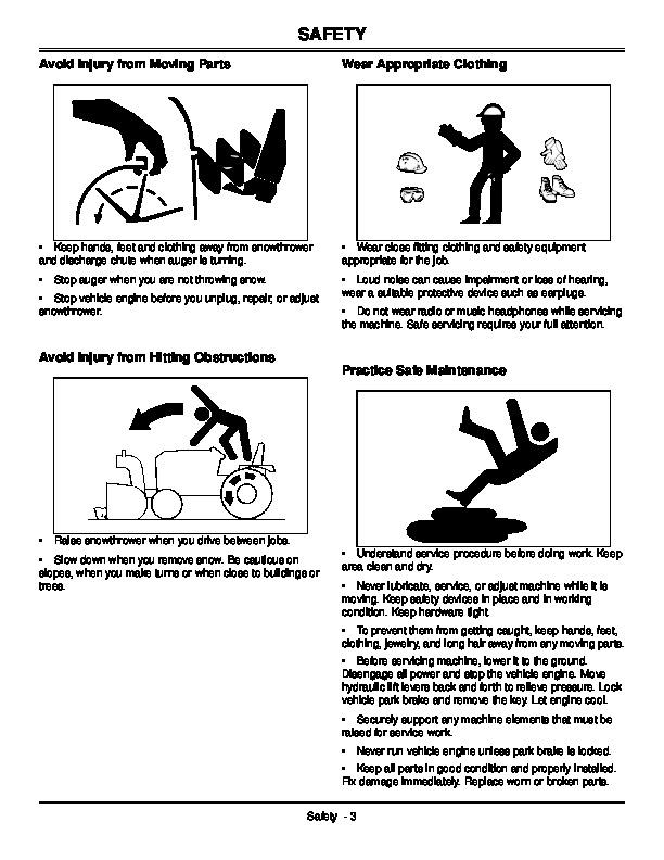 John Deere 141984 I9 42-Inch Snow Blower Owners Manual