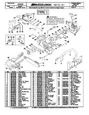 McCulloch Mac Cat 335 435 Chainsaw Service Parts List